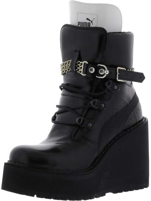 PUMA Women's Sb Wedge Rihanna Mid Calf Leather Fashion Sneaker