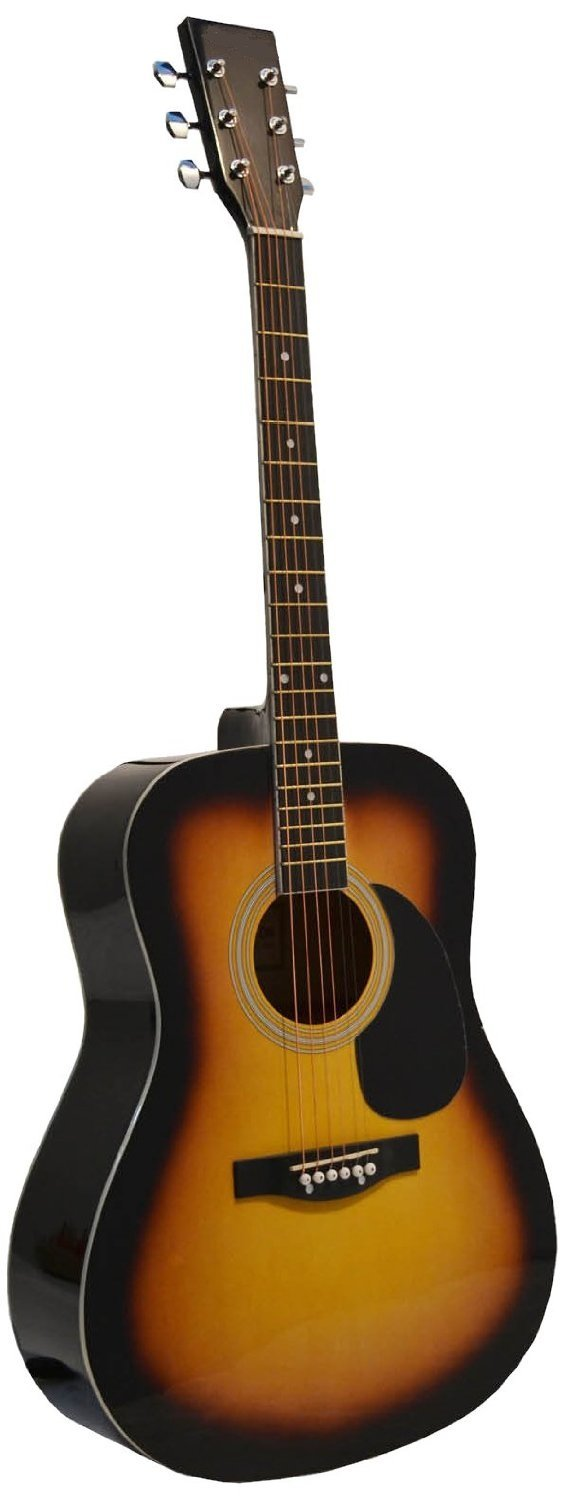 Sunburst Acoustic Guitar, & Directly Cheap Blue Medium Guitar Pick