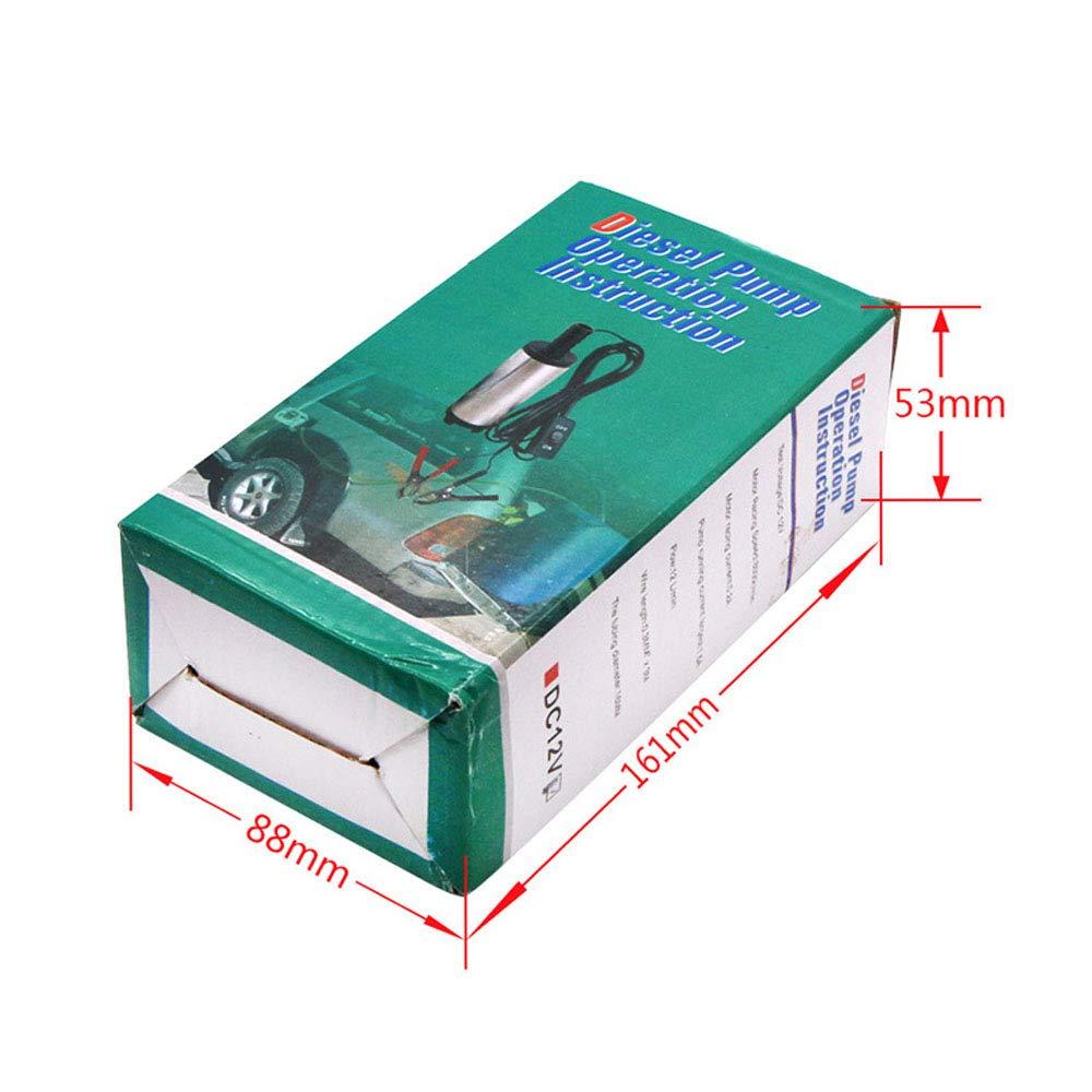 GNSDA Mini Bomba de Acero Inoxidable el/éctrica 0.8 LB DC12V 38mm DC Motor Bomba de Agua Puede extraer keroseno Motor Aceite Diesel Transporte Transporte generador Inicio
