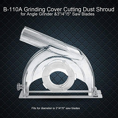 """Angle Grinder Dust Clear Cutting Cover Grinding Shroud for 4/""""// 5/"""" Saw Disc"""