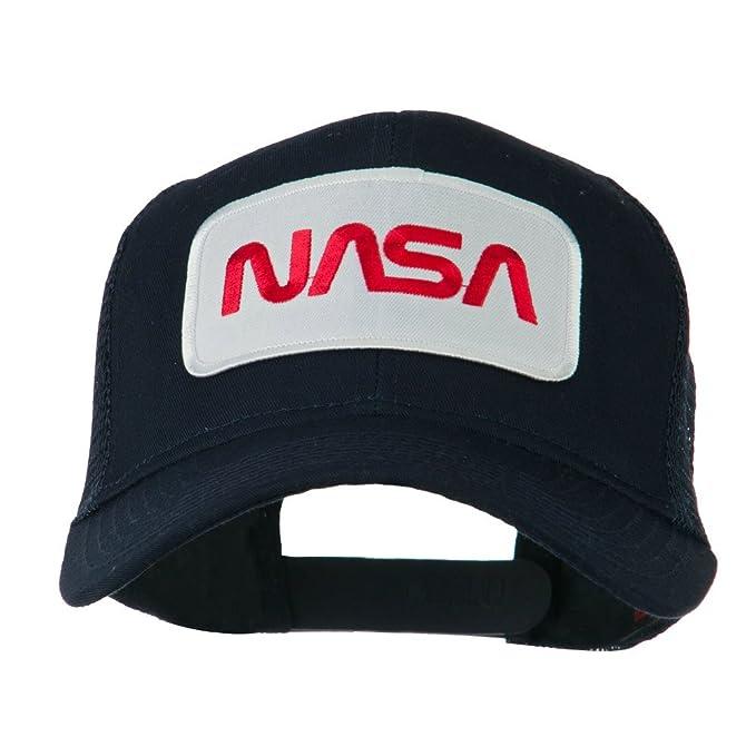 e4Hats.com NASA Logo Embroidered Patched Mesh Back Cap - Navy OSFM ... fa75df0cbdad
