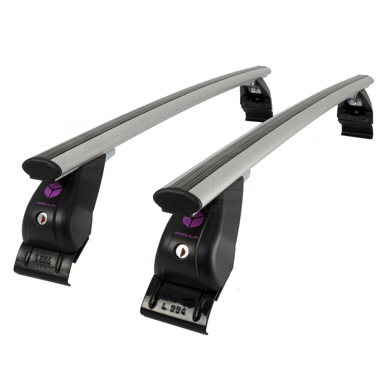 Modula MOCSRR0AL-0834 Aero Aluminium Silver Roof Bar Set (Normal Roof)