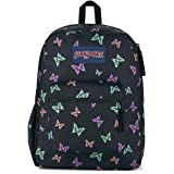 JanSport Cross Town Backpack - School, Travel, or Work Bookbag with Water Bottle Pocket, Bad Butterfly