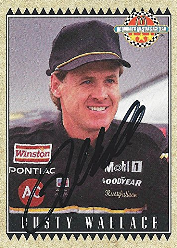 'AUTOGRAPHED Rusty Wallace 1992 Maxx Racing McDonald''s All-Star Race Team (#2 Miller High Life) Vintage Signed Collectible NASCAR Trading Card with COA' (Rusty Wallace Card)