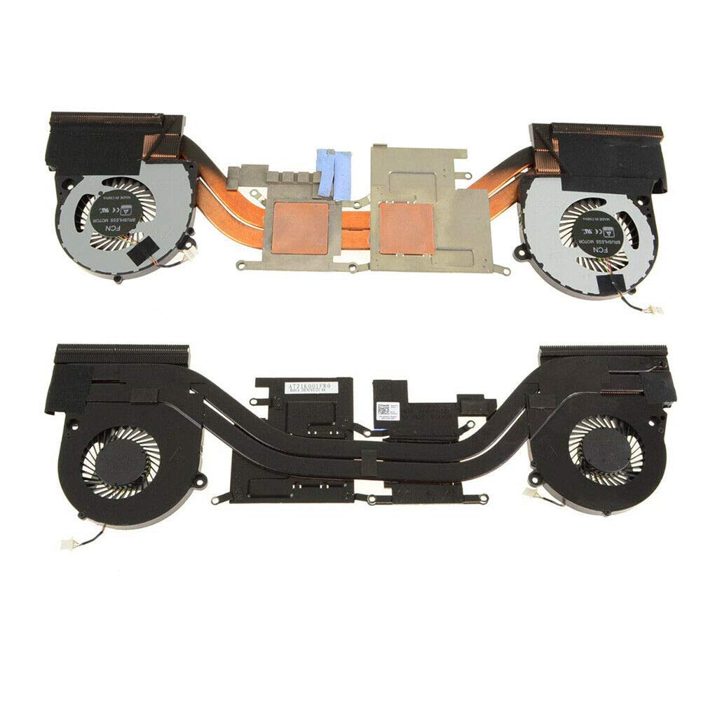 HK-Part Replacement Fan for Dell Inspiron 7577 G15 5587 CPU Cooling Fans with Heatsink 4MR2Y 04MR2Y