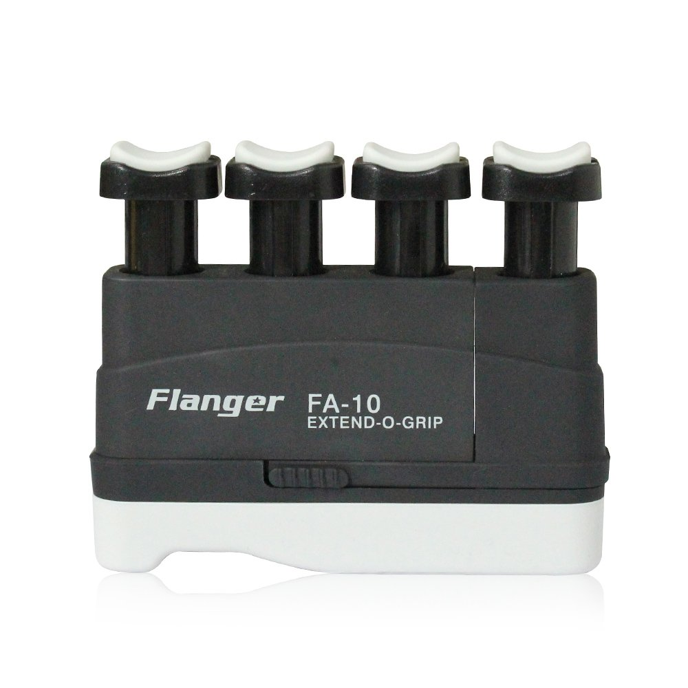 Hand Finger Master Exerciser Strengthener for Guitar Piano or Therapy, Tensions from 3,5,7 lbs, Great Gift for Guitar Beginner Hand Exerciser Finger Strengthener Trainer, FA-10, Black - 7 lbs Flanger