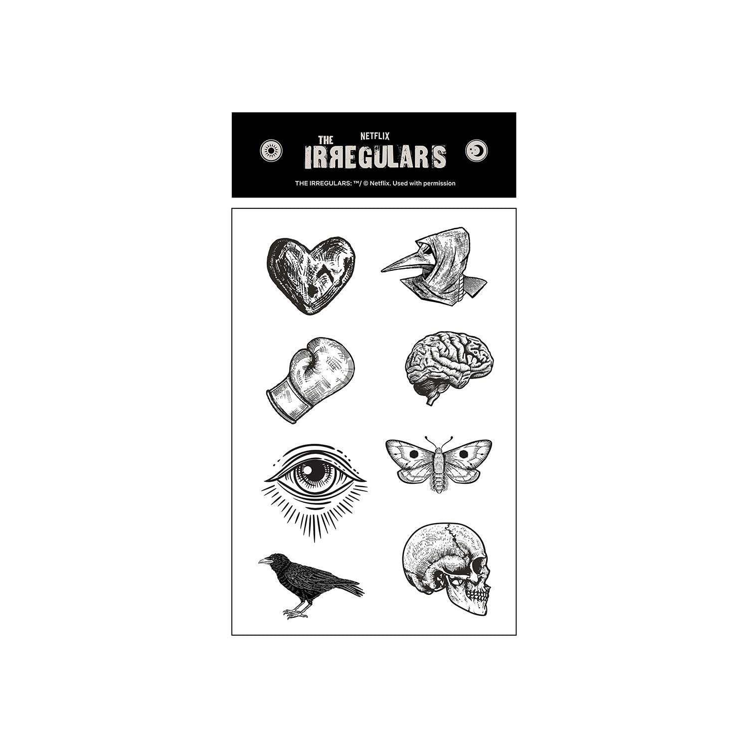 The Irregulars – Monsters Make Monsters Temporary Tattoo Pack by Netflix | Official Netflix Series | Sherlock Holmes, Dr. Watson