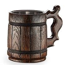 Wooden Beer Mug -Handmade Oak Tankard - Amazing Craftsmanship...