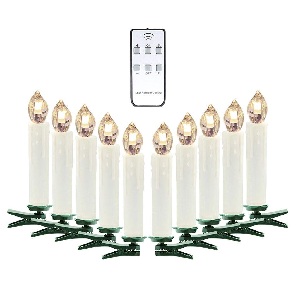 Warm White//Colorful LED Candles with Remote Christmas Tree Decorative Lights