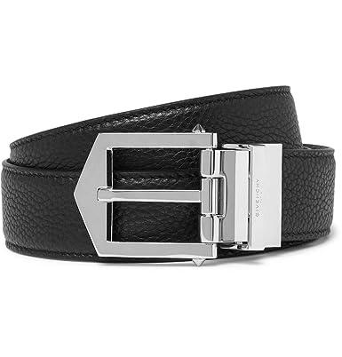 54720e8f8e8cf Givenchy Men's Obsedia Black & Tan Brown Reversible Pebble-grain Leather  Belt ...