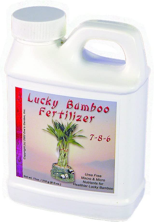 Eve's Garden Exclusive Lucky Bamboo Fertilizer, Exclusive Formula, Keeps Lucky Bamboo Dark Green and Healthy. Can be Used on Hydroponic Plants Too.