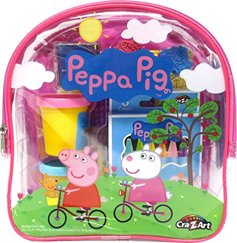 Cra-Z-Art Peppa Pig Ultimate Activities Backpack Building Kit, Colors May Vary -
