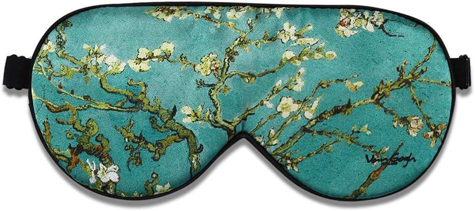 Alaska Bear Natural Silk Sleep Mask, Blindfold, Super Smooth Eye Mask (Blossom Almond)
