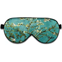 ALASKA BEAR Natural silk sleep mask & blindfold, super-smooth eye mask (One Strap, Blossom Almond)