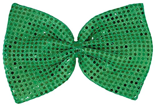 Giant Sequin Fabric Bow Tie St. Patrick's Day Costume Party Accessory (1 Piece), Green, 8