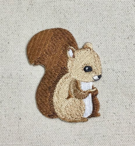 Baby Squirrel - Children's Animal - Iron on Applique/Embroidered Patch (On Squirrel Iron)