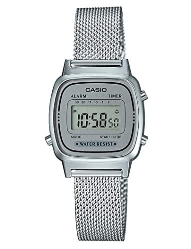 Casio Femmes Digital Quartz Montre avec Bracelet en Acier Inoxydable Massif  LA670WEM-7EF f66efb94958f