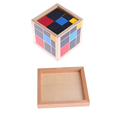 Montessori Toys Wooden Early Learning Math Educational Trinomial Cube for Toddlers: Kitchen & Dining
