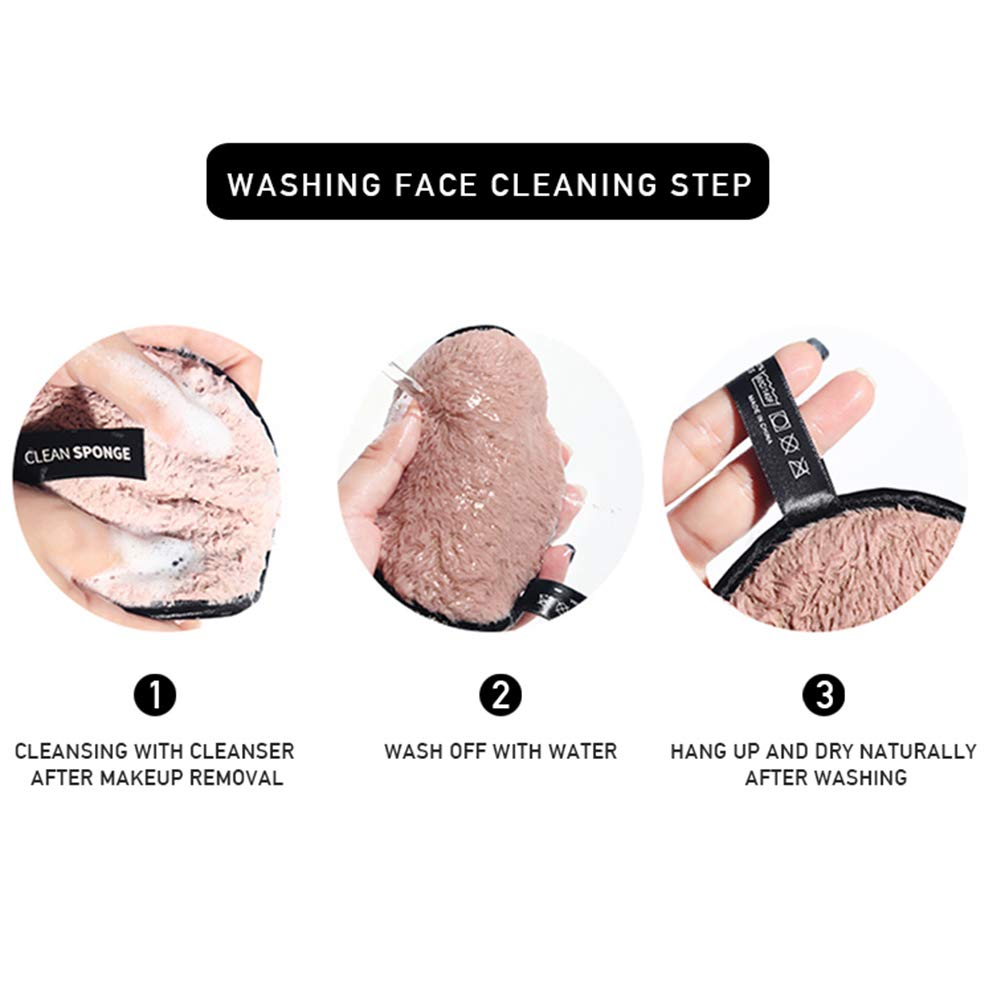 Discos Desmaquillantes Ecologicos Everpert Fibra Removedor de Maquillaje Coj/ín Reutilizable Rostro Limpieza Esponja Toalla Pa/ño Cosm/ético