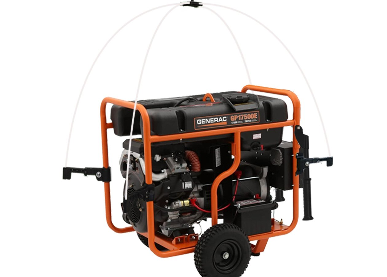 GenTent 20K Running Cover (Extreme, TanLight) for Generac GP12500 - GP17500 Generators by GenTent Safety Canopies (Image #2)