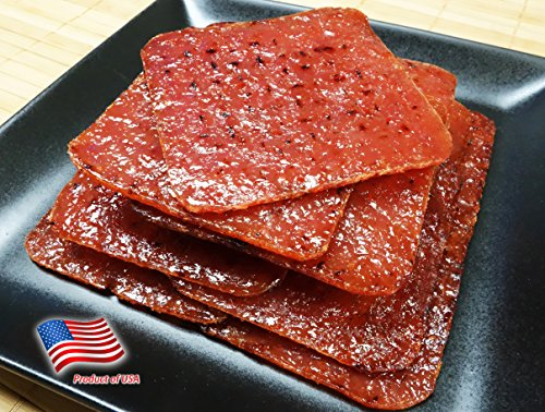 "Made to Order Fire-Grilled Oriental Minced Pork Jerky 4 Ounce (Original Flavor) Square Shaped aka Singapore Bak Kwa - Los Angeles Times ""Handmade Gift"" winner"