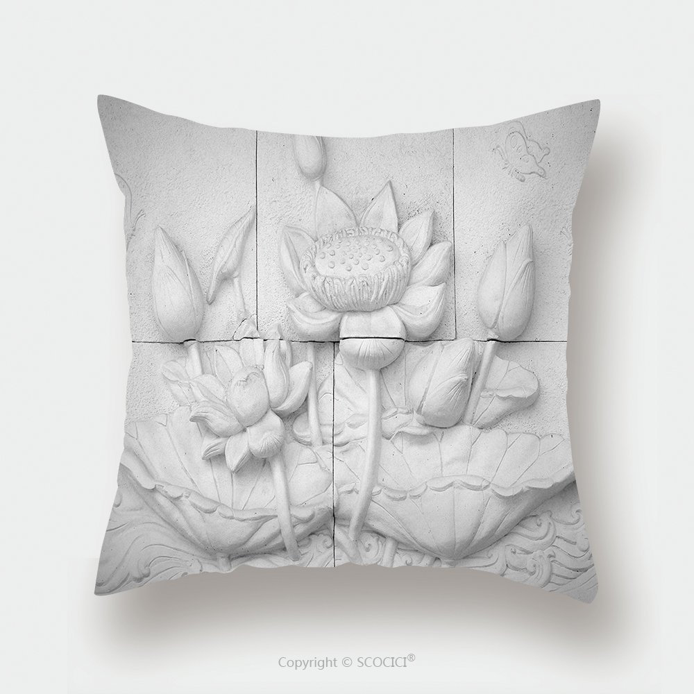 Custom Satin Pillowcase Protector Low Relief Cement Thai Style Handcraft Of Buddhism 152512472 Pillow Case Covers Decorative by chaoran