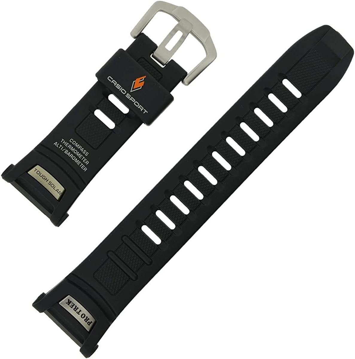 Casio PRW-1500 black resin replacement watch band