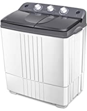 COSTWAY Portable Mini Washing Machine Compact 5.5lbs Counter Top Washer w/Spin Cycle Basket