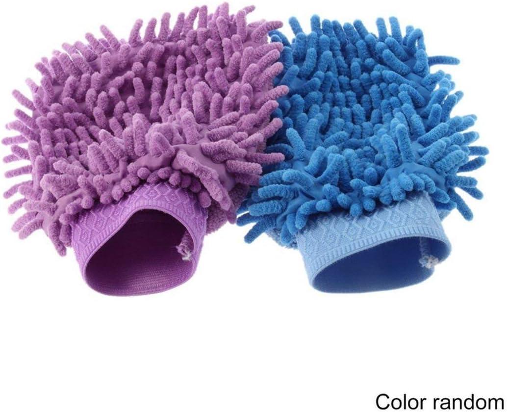 Random 【Majoxin】 Ultrafine Fiber Mitt Microfiber Household Car Wash Washing Car Cleaning Dry Glove Anti Scratch for Car Cleaning Color Random