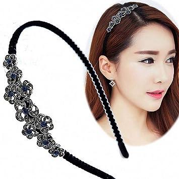 a481feb6961 Amazon.com   Womens Hair Accessories Headband of Women Handmade Bezel  Flower Crystal Rhinestone Hairband Hair Band Hair Clasp Hair Accessories  Headwear ...