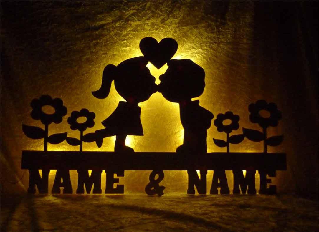 Led-Leuchte f/ür das Wohnzimmer oder Schlafzimmer Schlummerlicht24 Nachtlicht Deko Bl/ütenzauber f/ür das Schlafzimmer mit Namen nach Wunsch handgemacht Liebe