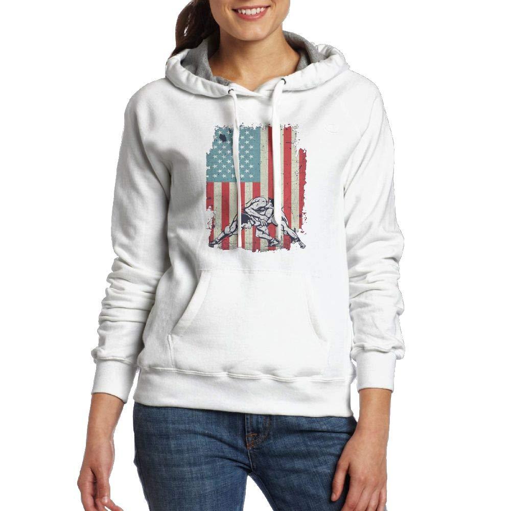 Weng Lijuan American Flag Wrestling Womens Fashion Hoodies Training Sweatshirts Quote Pullovers Cotton Fleece