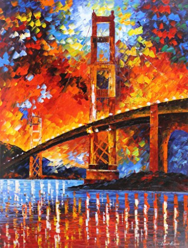 San Francisco Golden Gate Bridge is a ONE-OF-A-KIND, ORIGINAL OIL PAINTING ON CANVAS by Leonid AFREMOV …