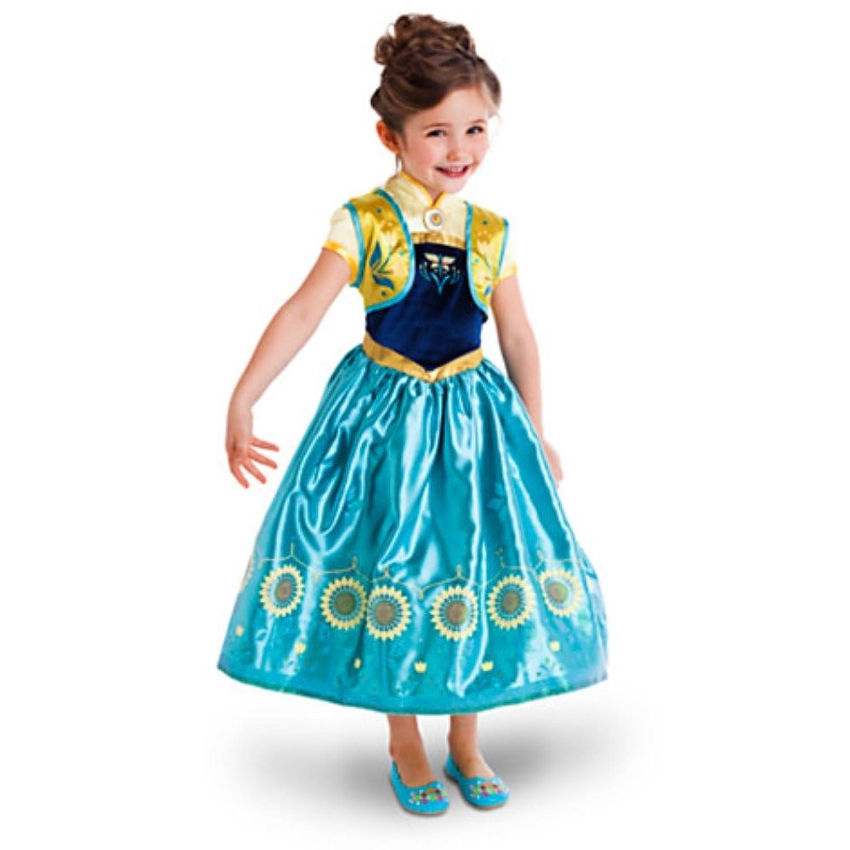 Amazon.com: Disney - Frozen Fever 2 in 1 Costume Set - Elsa and Anna ...
