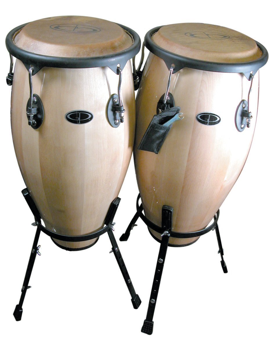 GP Percussion WDC31S Professional Tunable Conga Drum Set