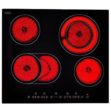Festnight Placa de Cocción en Vitrocerámica 6600 W 590 x 520 ...