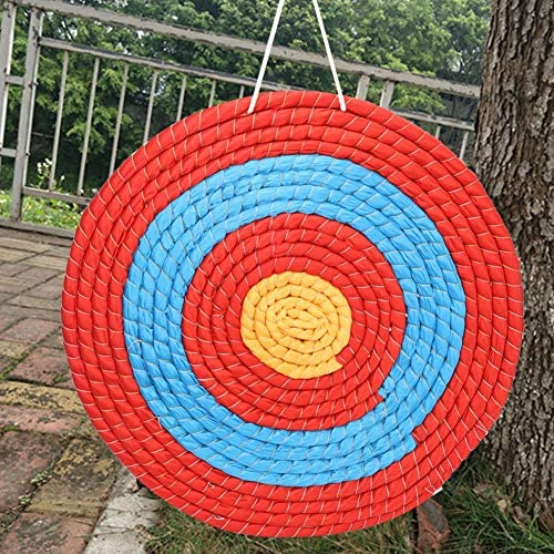 Yinuoday Natural Grass Archery Target 24-Inch Bullseye Archery Target Arrow Target for Adult Backyard Bows with NASP Scoring Rings