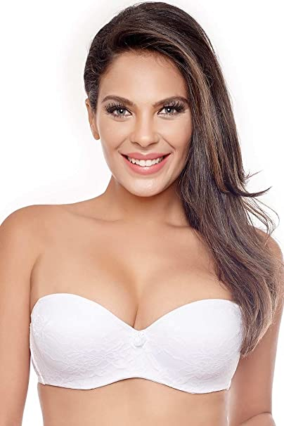 3610745fb47 La-Polo Women s Strapless Bra (White Free Size)  Amazon.in  Clothing    Accessories