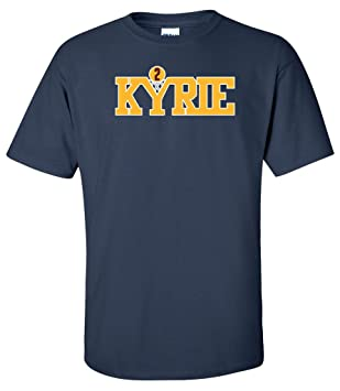 Kyrie Irving Cleveland Cavaliers Logo Kyrie Azul Marino T-Shirt: Amazon.es: Deportes y aire libre