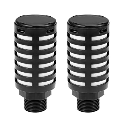 uxcell Plastic Pneumatic Muffler Exhaust Air Line Silencer 3/4 PT Black, 2pcs: Automotive