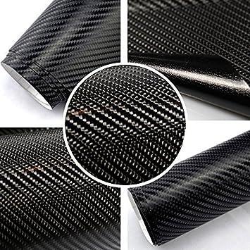TipTopCarbon 6,57/€//m/² 4D Carbon Folie schwarz BLASENFREI 3m x 1,52m mit Luftkan/äle Autofolie selbstklebend