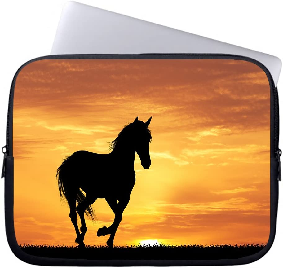 "Neafts Black Horse At Dusk Waterproof Neoprene Soft Sleeve Case for MacBook 12 Inch & MacBook Air 11.6 Inch and Laptop up to 12"" Ultrabook, Chromebook Bag Cover"