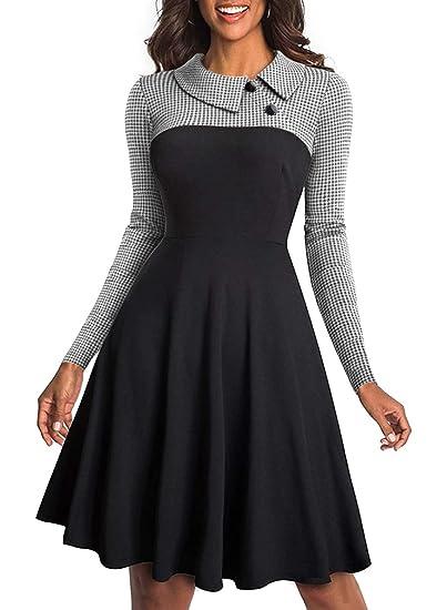 on sale 27b10 d3f6e Aleumdr Vestiti Donna Manica Lunga Abito Donna Invernale S-XXL