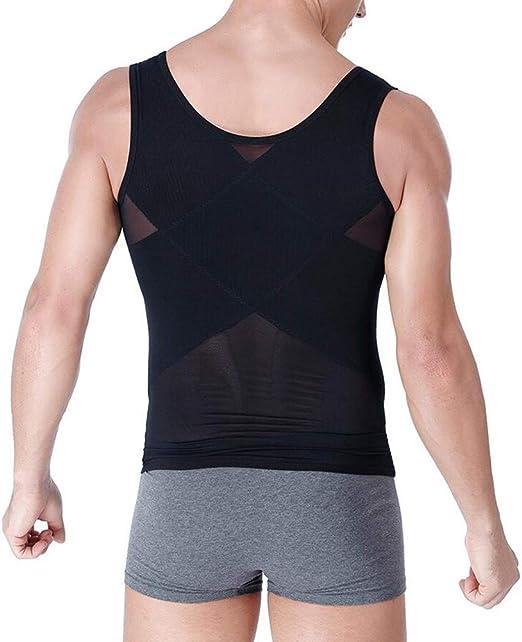 XWWshapewear Hombre Chaleco Moldeadora Reductora Adelgazante Ropa Interior Camiseta de Tirantes Compresión Adelgazante Abdomen Body Shaper,Negro,XXS: Amazon.es: Hogar