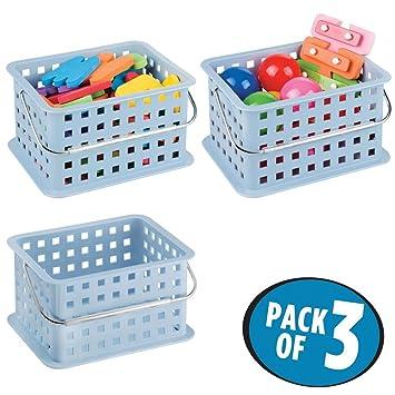 mDesign Caja perfecta como caja almacenaje para juguetes – También ideal como caja para guardar ropa