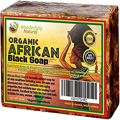 Organic African Black Soap - 5 lb Best for Acne Treatment, Eczema, Dry Skin, Psoriasis, Scars, Dermatitis, White Heads Pimples, Anti-fungal Face & Body Wash, Raw Handcrafted Beauty Scrub Bar … - 10150575 , B01EE4AOE4 , 285_B01EE4AOE4 , 1917269 , Organic-African-Black-Soap-5-lb-Best-for-Acne-Treatment-Eczema-Dry-Skin-Psoriasis-Scars-Dermatitis-White-Heads-Pimples-Anti-fungal-Face-Body-Wash-Raw-Handcrafted-Beauty-Scrub-Bar--285_B01EE4AOE4 , fa