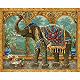 Paint by Numbers for Kids Adults DIY Oil Painting Kit Beginner [Wooden Frame] - Thailand elephant 349