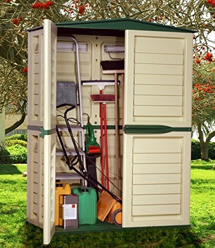 Casetta Per Giardino Plastica.Casetta Per Ricovero Attrezzi In Plastica Da Giardino Cm 151 X 83 X