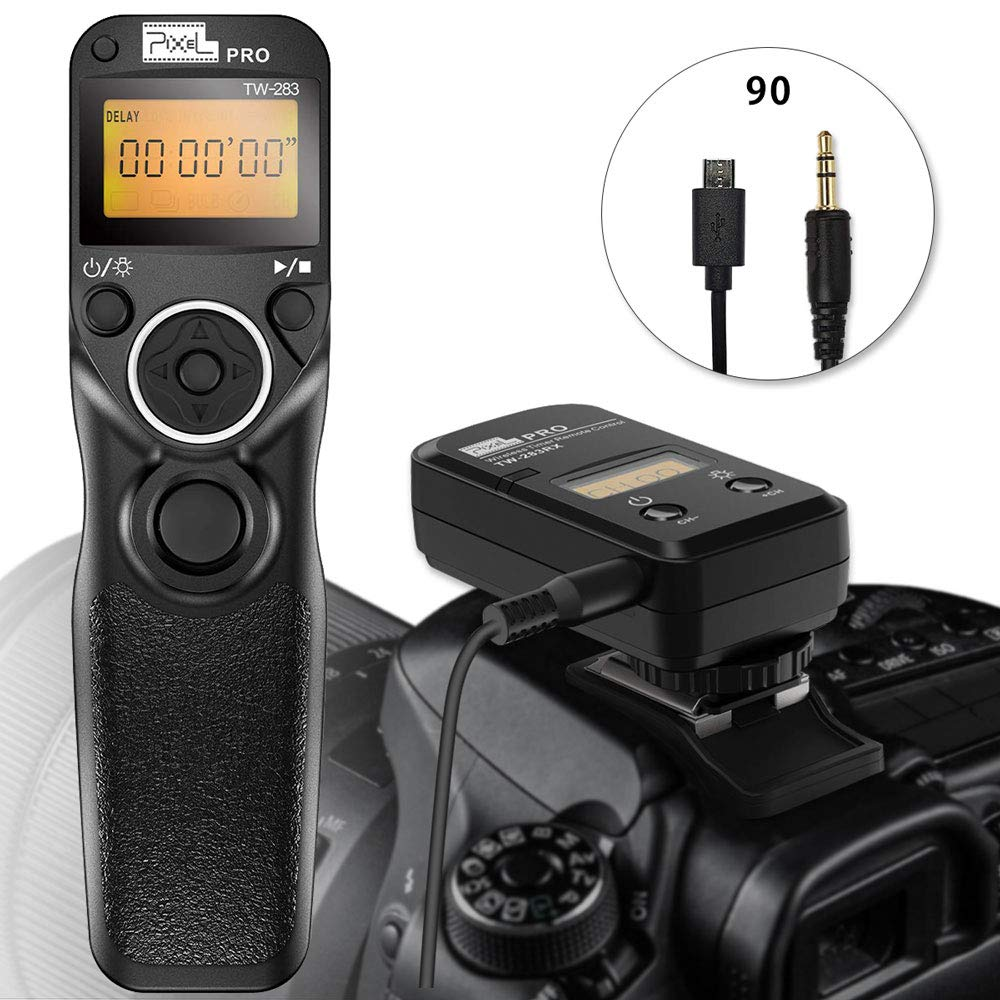 Wireless Remoet Shutter for fujifilm, PIXEL TW-283 90 Remote Shutter Release 2.4G Wireless Timer Remote Control for Fuji Cameras by PIXEL