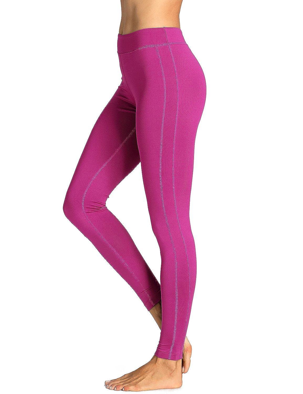 TALLA L. SYROKAN - Pantalones Largos Leggins Deportivos Running Para Mujer